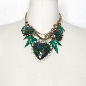 Betsey Johnson Asian Jungle Statement Necklace
